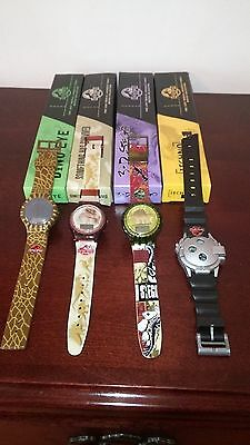 Vintage 1997 Jurassic Park Watch Collection Complete Set Of 4   New In Box