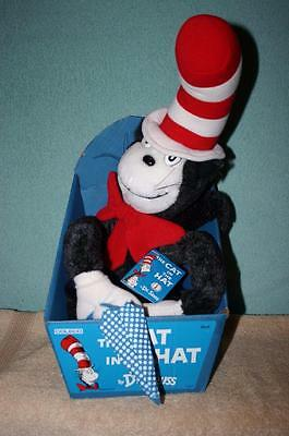 "MIB 25"" Cat in the Hat Stuffed Toy by Dr Seuss, Free Shipping"