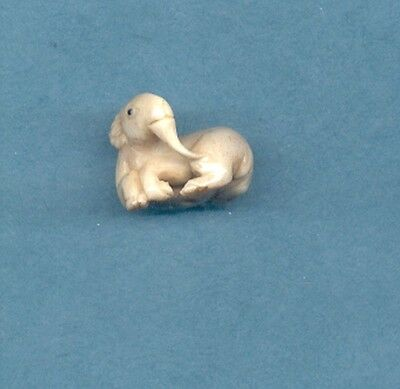 Sitting RM  Carved  Japanese Ojime Bead  Miniature Figurine 854 Zodiac