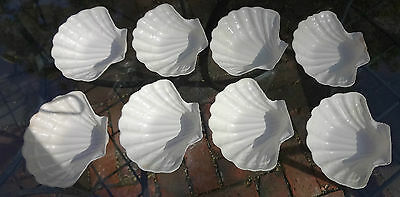 8 Vintage Hi-Heat Realistic St. Paul Plastic Coquille Shells Baking Dishes 443