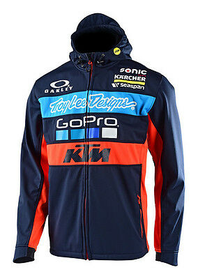 2017 Troy Lee Designs TLD KTM Go Pro Licensed Team Jacket Hoodie Navy Blue MX