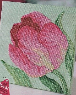 Cross Stitch Pattern Chart - Tulip + Butterfly Floral Cushion (C274)