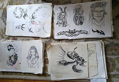 200  tattoo design sheets old school lots here  get them now