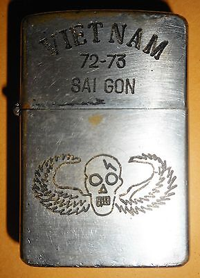 1972 - ORIGINAL ZIPPO LIGHTER - CIA / SPECIAL FORCES SAIGON - Vietnam War - 9377
