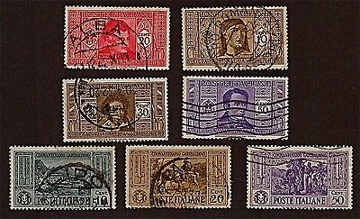 ITALY 7 1932 Historical Portrait Series +Stamps (85 YrsOld)Used,See Descr FUS226