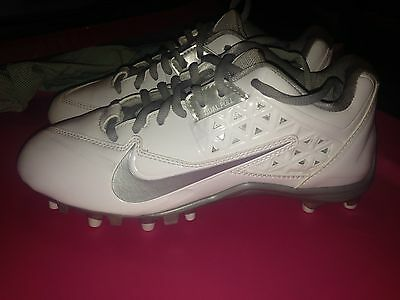NEW Nike Speedlax 4 Womens White Silver Lacrosse Cleats Size 6.5