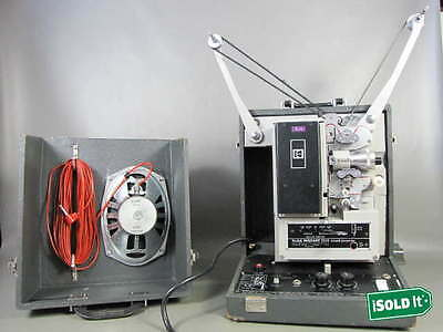 VINTAGE KODAK PAGEANT 250S 16mm MOVIE PROJECTOR with SOUND SPEAKER INCL TESTED