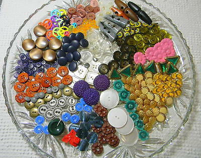 Huge Mixed Lot of NEW Old Stock Buttons~All In Sets~Colors~Fancy~1 Pound LB +