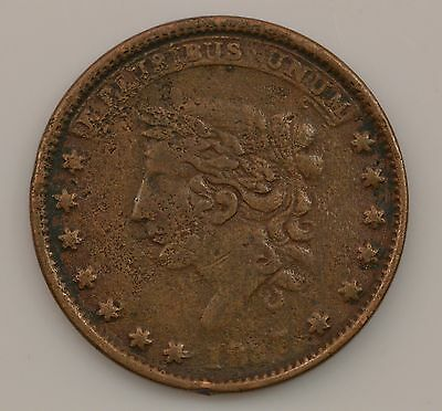 """1837 """"Not One Cent"""" Hard Times Token *Q94"""