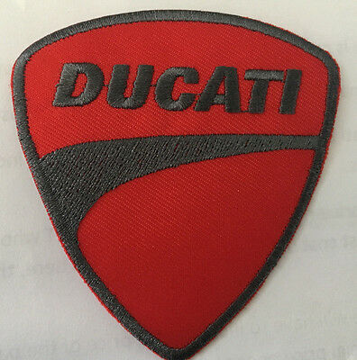 Ducati embroidered cloth patch.   B020305