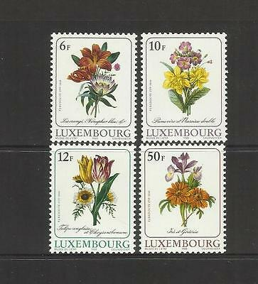 Luxembourg ~ 1988 Culture Flowers By Redoute (Mint Set Mnh)
