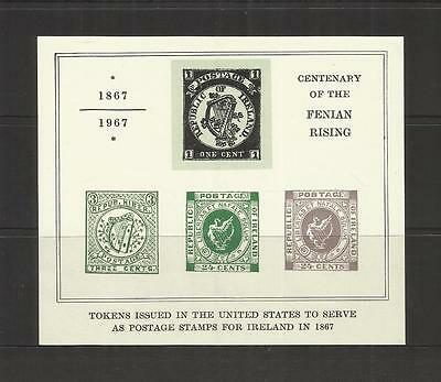 "Eire Ireland ~ ""cinderella"" M/s Centenary Of The Fenian Rising 1967 (Mint Mnh)"