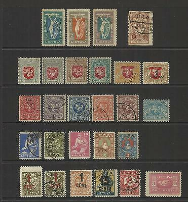 Lithuania Lietuva ~ 1919-1921 Small Collection (Part Sets)
