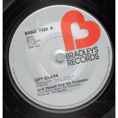 "JACK PARNELL Spy Glass 7"" VINYL UK Bradleys 1974 B/w Razor's Edge (brad7420)"