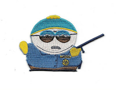 South Park TV Series Officer Cartman Figure Embroidered Patch, NEW UNUSED