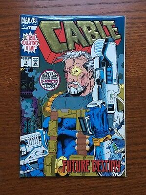 Cable # 1: 1st issue of Marvel X-Men spinoff series, 1993, VF
