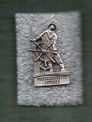 Peweter Sea Captain ~ Massachusetts Jaycees Pin