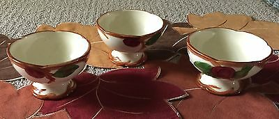 Vintage Franciscan Apple Pattern Desert Cups Lot Of 3