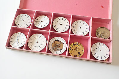 Assorted Collection Of Large Vintage Watch Faces Dials Job Lot of 10 - Free Post