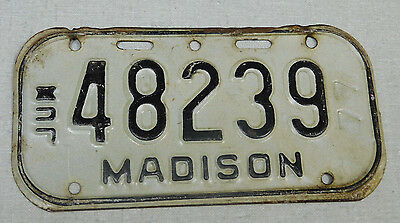 1977 Madison Wisconsin bicycle license plate