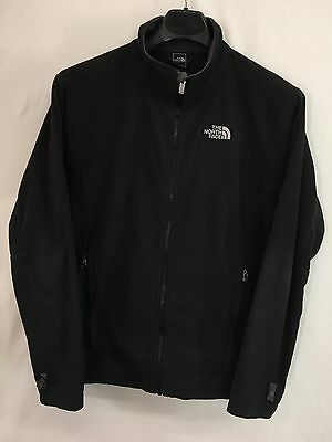 Mens Large The North Face Outdoor Jacket Black Lightweight Fleece