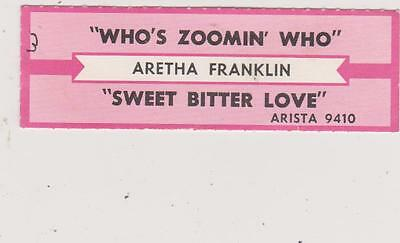 Aretha Franklin-Who's Zoomin Who Jukebox Title Strip