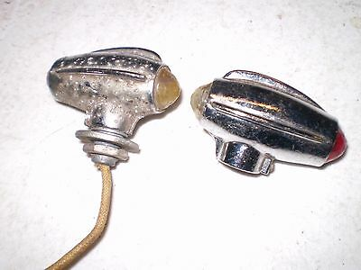 1930-40-50's CHEVY FORD ELECTRO-LINE SIGNAL TOPPER LIGHTS PAIR HOT RODS