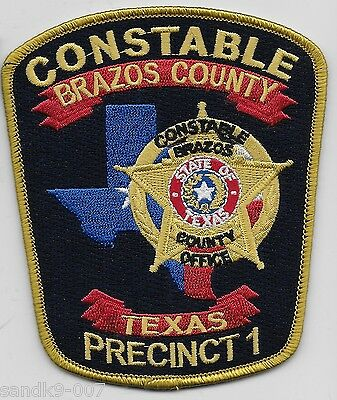 NEW Brazos County Constable PCT 1 POlice State of TEXAS Patch TX NEW