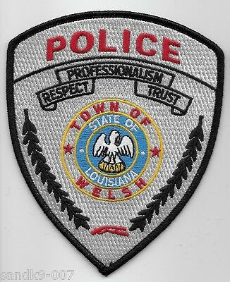 NEW WELSH Police State of LOUISIANA LA Shoulder Patch