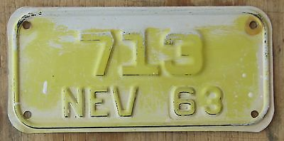 NEVADA 1963 MOTORCYCLE license plate  1963  713