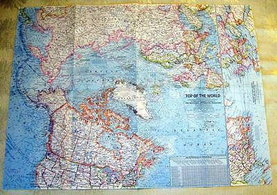 TOP of the WORLD ~ 1965 National Geographic Map