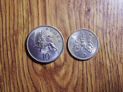 Great Britain 10 Pence & 5 Pence, Two High Grade Coins (239)