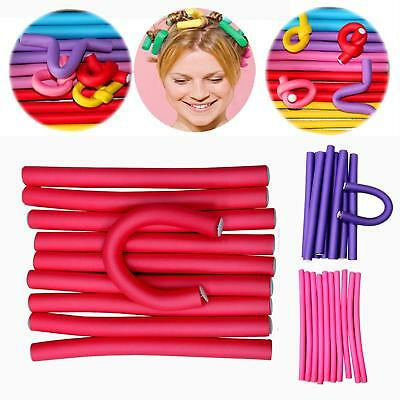 10Pcs Soft Foam Curler Makers Bendy Twist Curls Tool DIY Styling Hair Rollers LD