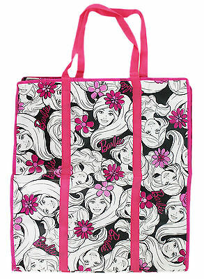 New Extra Large Tote Bag Barbie Reusable Grocery Shopping Bag #55