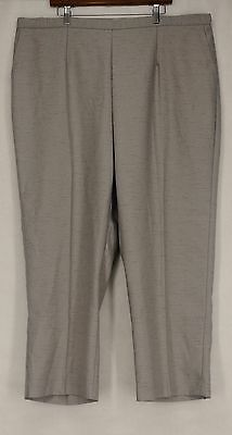 Alfred Dunner Plus Size Pants 24W Pull On Trousers Heather Gray New