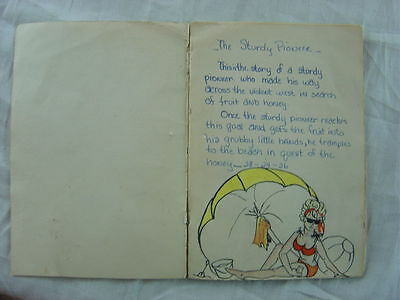 Vintage Illustrated Love Letter Indian Girl & Sturdy Pioneer 778
