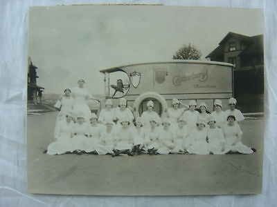Vintage Photo Pretty Girls Uniform Canterbury Chocolates 1915 Delivery Truck 778