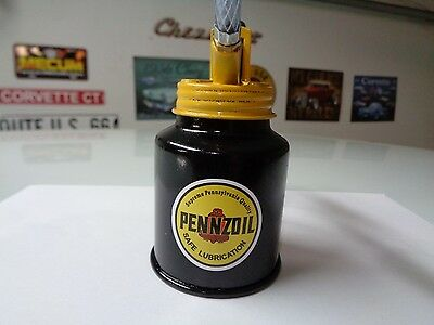 PENNZOIL Gasoline Station Gas Motor Pump OIL CAN Motor Oiler Spout  Penn Crude