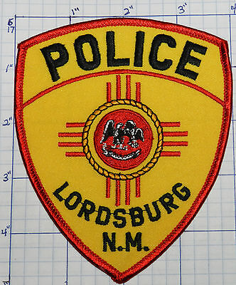 New Mexico, Lordsburg Police Dept Yellow Patch