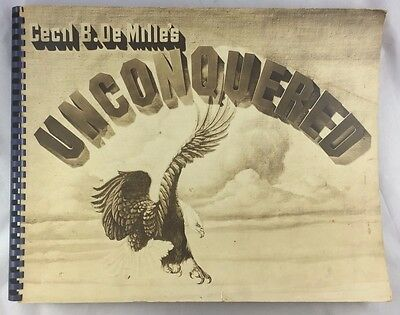 1947 Oversized Promo Book Program Lots of Photos Unconquered Gary Cooper