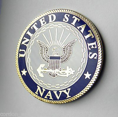 Usn United States Us Navy Large Lapel Pin Badge 1.5 Inches