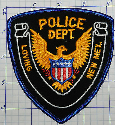 New Mexico, Loving Police Dept Stock Eagle Patch