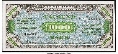 Germany Allied Military Currency 1000 Mark 1944 Pick 198b UNC