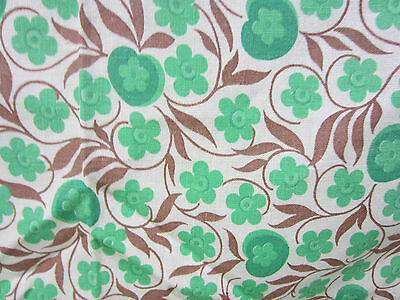 Vintage Whole Feed Sack- Green/White Floral   FS#26