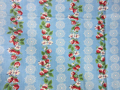 Vintage Whole Feed Sack- Blue Floral Print  FS#28