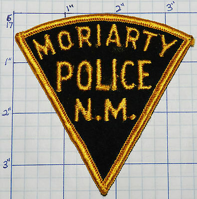 New Mexico, Moriarty Police Dept Vintage Felt Patch