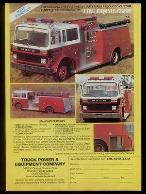 1980 Mack fire engine truck The Equalizer 4 photo trade ad