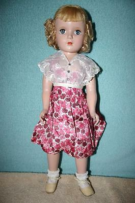 Vintage Hard Plastic Strung 17 Inch Alexander Doll with Original Clothing