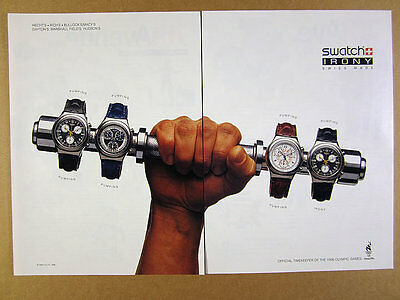1996 Swatch Watch Irony Collection chronograph watches photo vintage print Ad
