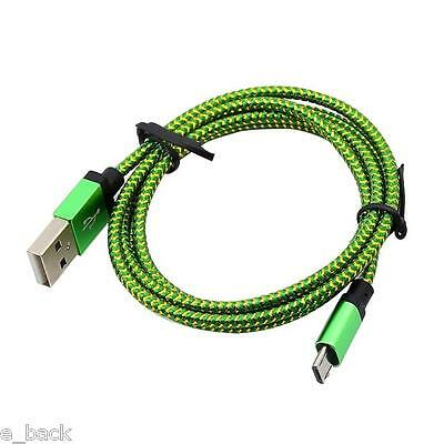 1M/3ft Micro USB A to USB 2.0 B Braided Fast Data Sync Charger Cable Cord Hot#G